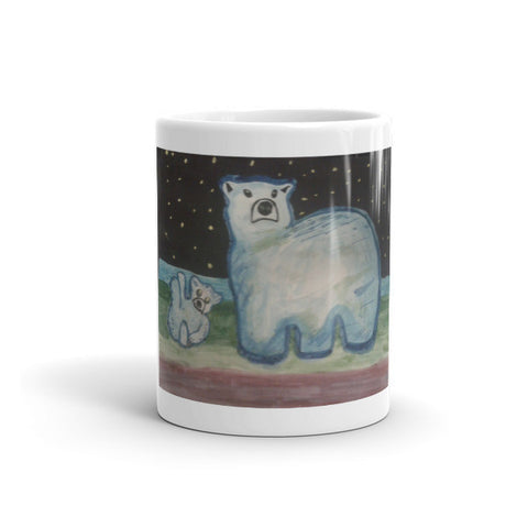 Blue Save the Polar Bear Mug (Free shipping)