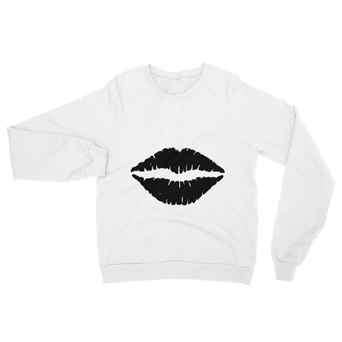Black kiss designer style Raglan sweater (free shipping)