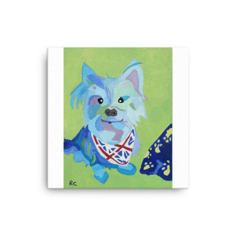 Canvas of a Trendy dog print (Free shipping)