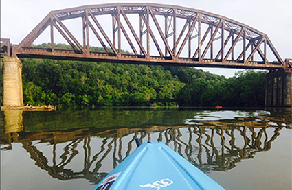 Kayaking near Pricketts Fort - Fairmont, West Virginia