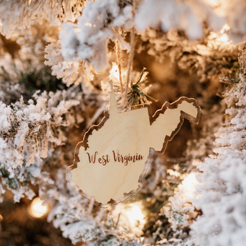 West Virginia Script Ornament - Loving West Virginia (LovingWV)