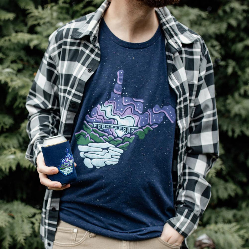 Midnight Stars Speckled Tee - Loving West Virginia (LovingWV)
