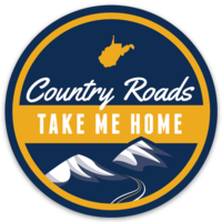 Country Roads Sticker - Loving West Virginia (LovingWV)
