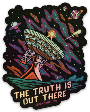 The Truth Is Out There - Holographic - Sticker