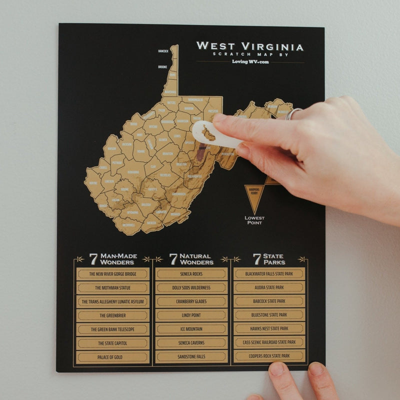 West Virginia Scratch Map