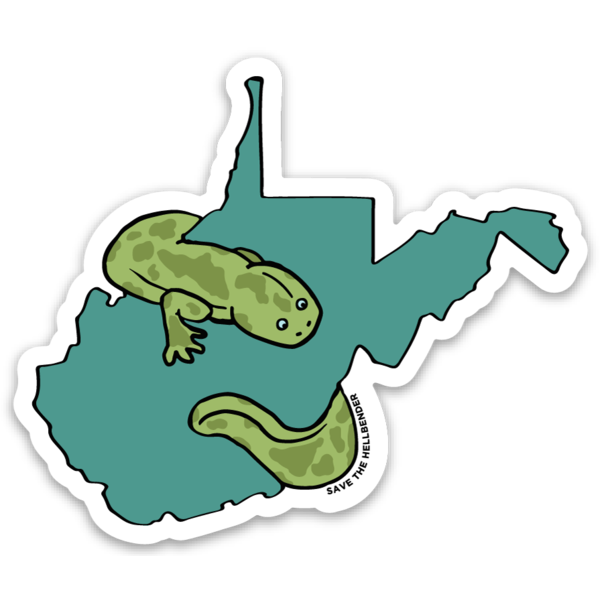 Save The Hellbender - Profits Donated to WV Land Trust - Loving West Virginia (LovingWV)