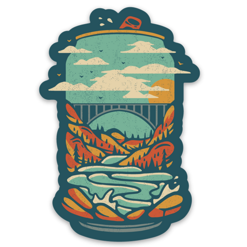 New River Gorge Beer - Sticker - Loving West Virginia (LovingWV)
