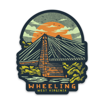 Wheeling Suspension Bridge - Sticker