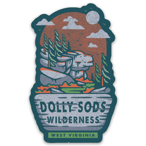 Dolly Sods Sticker - Loving West Virginia (LovingWV)
