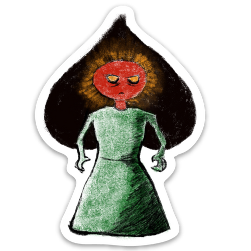 Flatwoods Monster Sticker - Loving West Virginia (LovingWV)