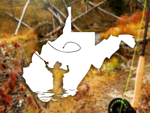 Fly Fishing Decal - Loving West Virginia (LovingWV)