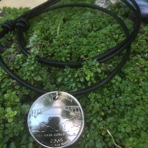 Handcrafted West Virginia Quarter Necklace - Loving West Virginia (LovingWV)