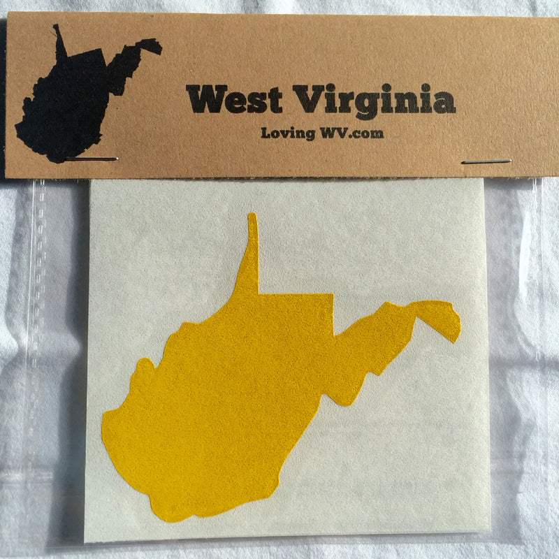West Virginia State Vinyl Decal - Loving West Virginia (LovingWV)