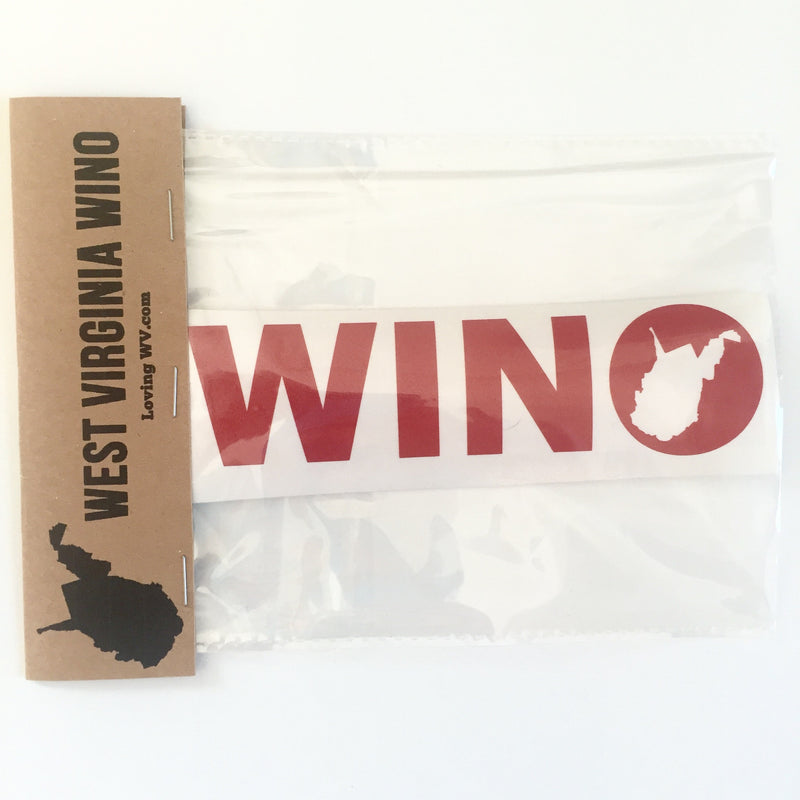 West Virginia Wino Decal - Loving West Virginia (LovingWV)