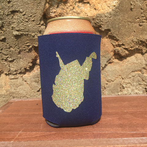 West Virginia State Beer Can Cooler - Loving West Virginia (LovingWV)