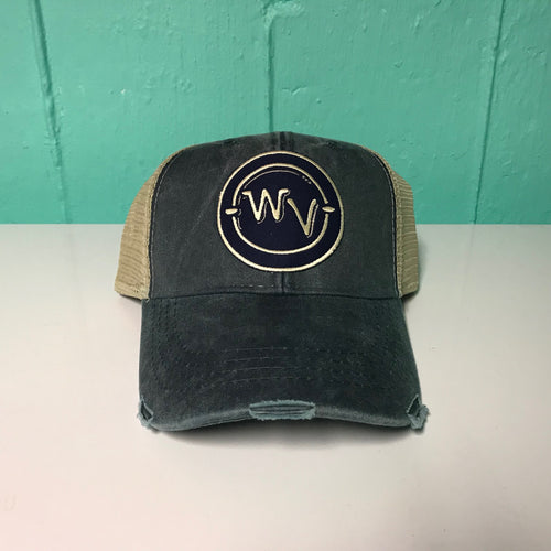 WV in Circle Patch Hat - Loving West Virginia (LovingWV)