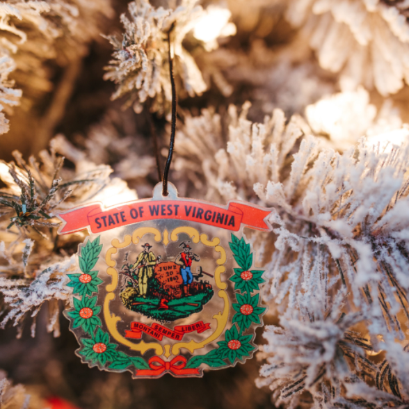 WV State Seal Ornament
