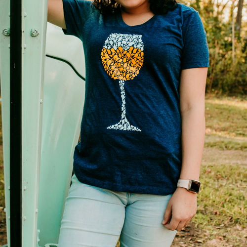White Wino Women's Fit - V-Neck - Loving West Virginia (LovingWV)