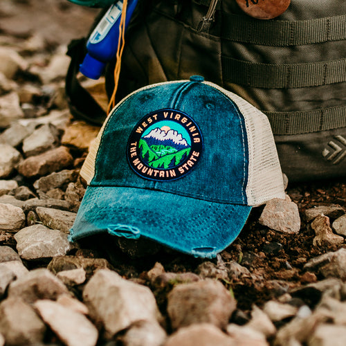 Seneca Rocks Patch Hat - Loving West Virginia (LovingWV)