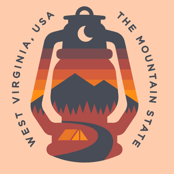 PREORDER - WV Lantern - Sunset - Loving West Virginia (LovingWV)