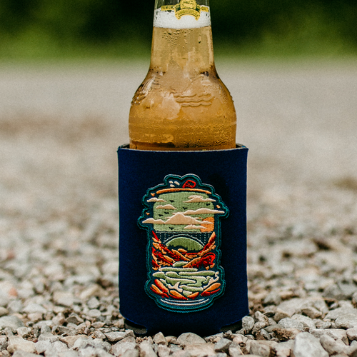 New River Gorge Beer Embroidered Can Cooler - Loving West Virginia (LovingWV)