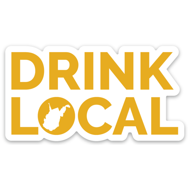 Drink Local Text Sticker - Loving West Virginia (LovingWV)