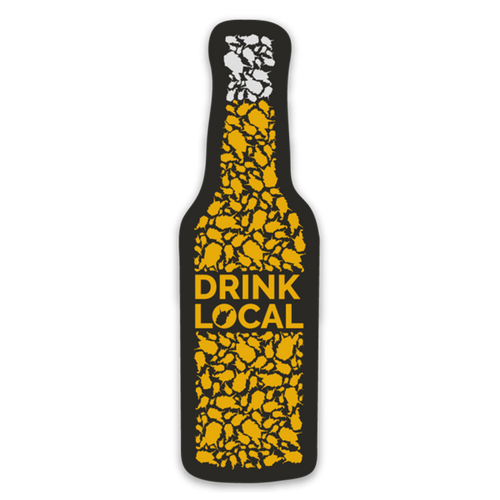 Drink Local - Bottle - Magnet - Loving West Virginia (LovingWV)