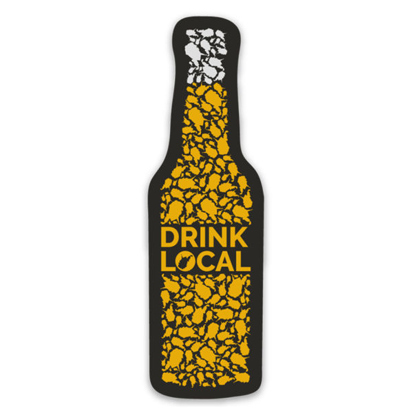 Drink Local - Bottle - Sticker - Loving West Virginia (LovingWV)