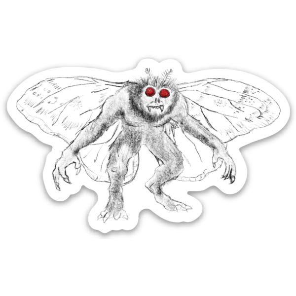 Mothman Sticker - Loving West Virginia (LovingWV)