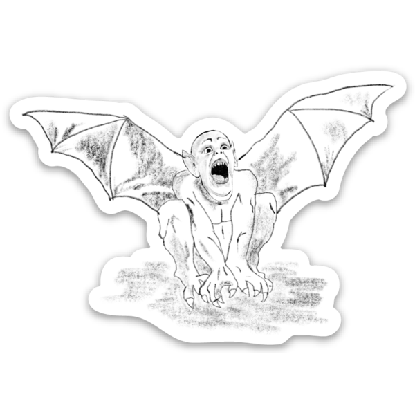 Bat Boy Sticker