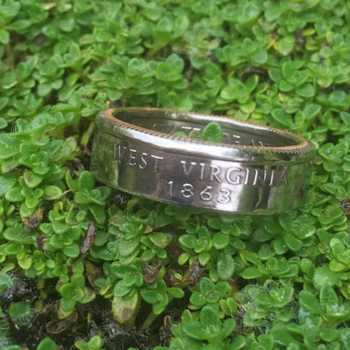 Handcrafted West Virginia Quarter Ring - Loving West Virginia (LovingWV)