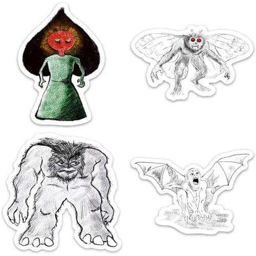 WV Monsters Sticker Pack - Loving West Virginia (LovingWV)
