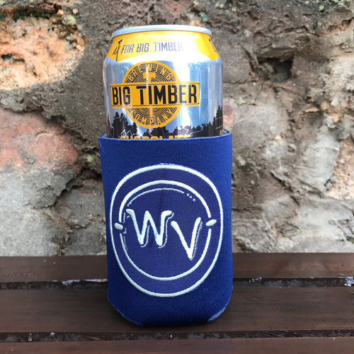 WV in Circle Patch Can Cooler - Loving West Virginia (LovingWV)