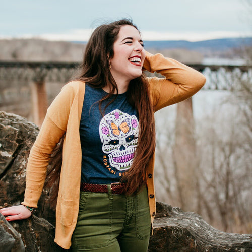 Sugar Skull Shirt - Loving West Virginia (LovingWV)