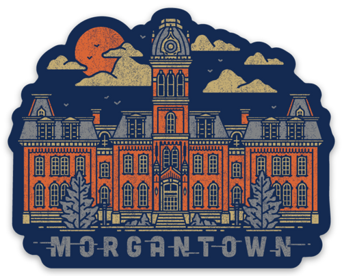 Morgantown - Sticker - Loving West Virginia (LovingWV)