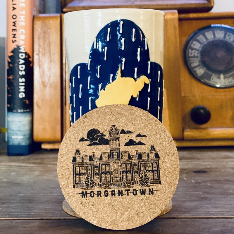 Morgantown Cork Coaster (2 Pack) - Loving West Virginia (LovingWV)