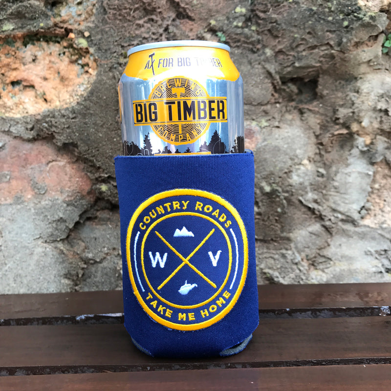 WV Embroidered Seal Can Cooler - Loving West Virginia (LovingWV)