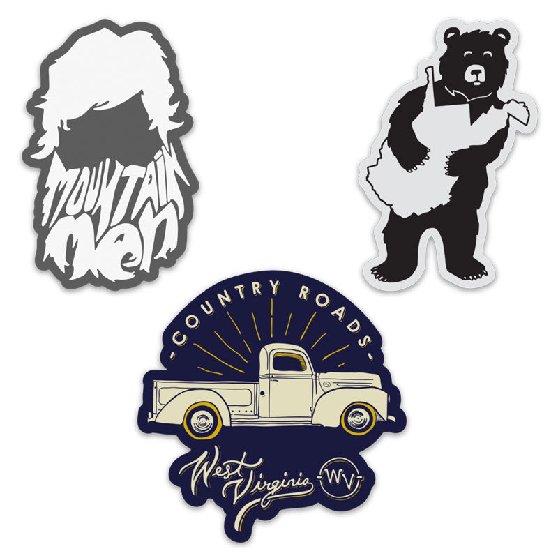 Loving WV Sticker Pack 9 - Loving West Virginia (LovingWV)