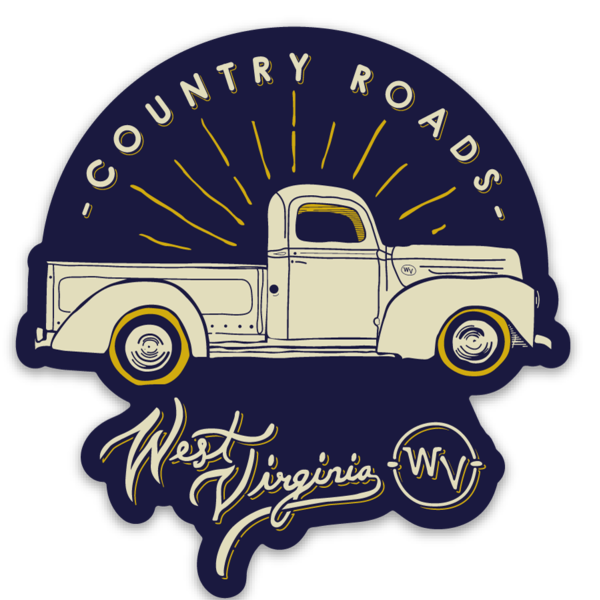 Country Roads Truck - Magnet - Loving West Virginia (LovingWV)