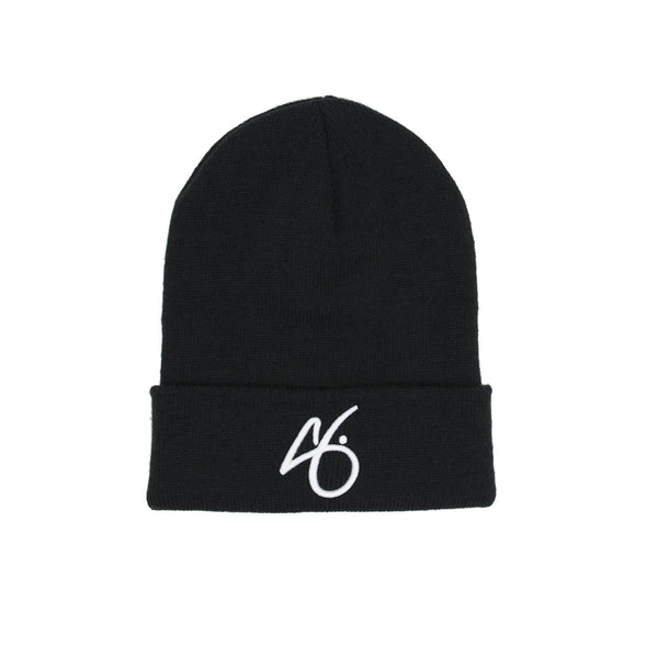 "The ""G"" Cuff Beanie - Black/White"