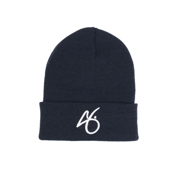 "The ""G"" Cuff Beanie - Navy/White"