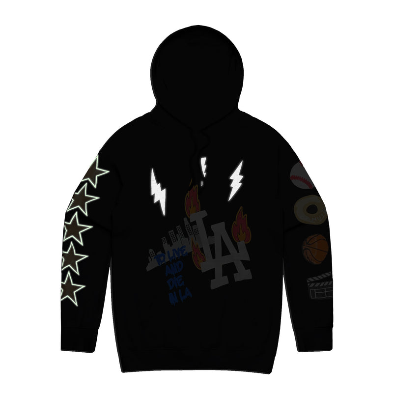 City of Champions LA Hoodie - 3M/Glow/Black