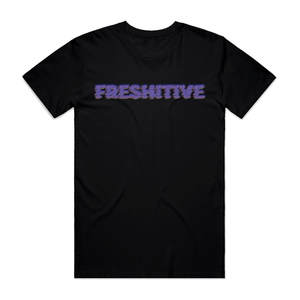 "FRESHITIVE - ""GLITCH"" TEE - BLACK"