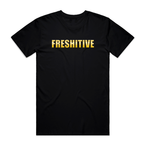 "FRESHITIVE - ""GOLD"" TEE - BLACK"