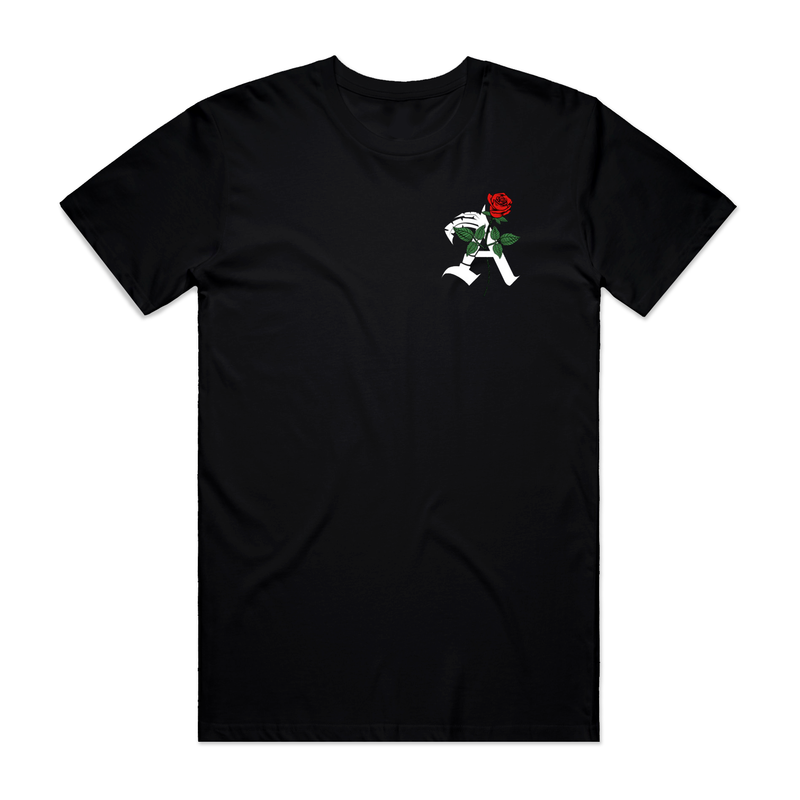 "ISLAND AVENUE - ""ISLAND ROSE"" TEE - BLACK"