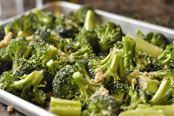 Roasted Broccoli with Lemon, Garlic and Parmesan