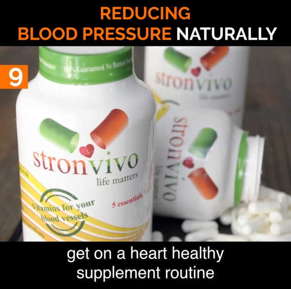 #9 Get on a Heart Healthy Supplement Routine to Lower Blood Pressure Naturally