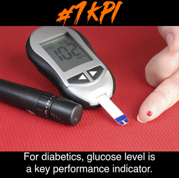 For Diabetics, glucose level is a key performance indicator