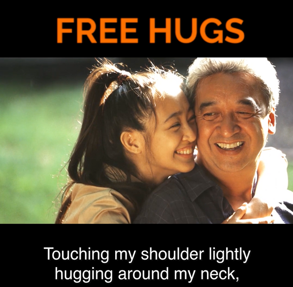 A hug to help lower blood pressure?
