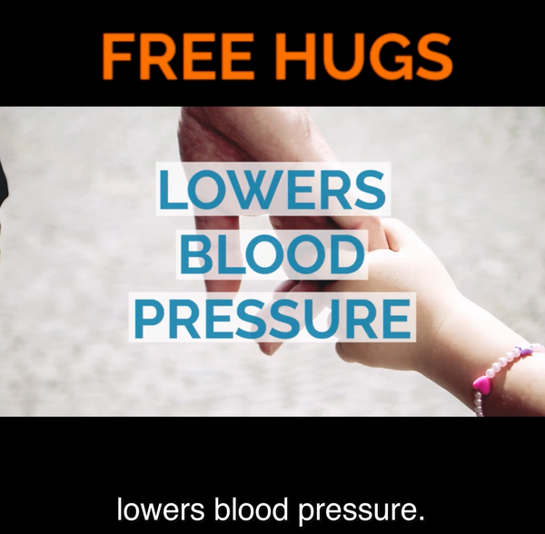 Hugs actually do lower bold pressure!
